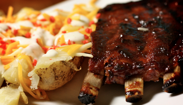 Smoky Southern Style Grilled Barbecue Ribs